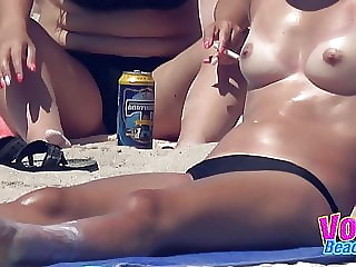 Amateur Topless Beach Teens Voyeur Beach Compilation Video