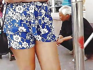 Shiny Pantyhose and Shorts