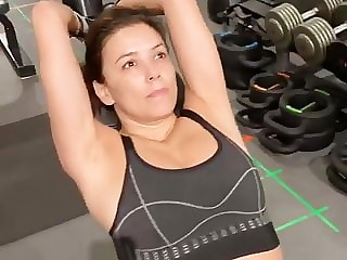 Eva Longoria working out