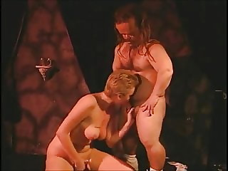 Hot blonde Candy fucked by dirty bums