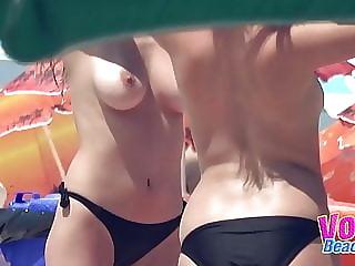 Amateur Beach Topless Babes Voyeur Hidden Cam Video