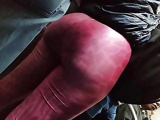 Huge ass Big booty nalgona candid pink legging