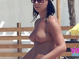 Topless Small Tits Amateurs Beach Voyeur Video