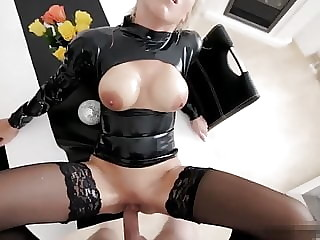 Ass fucked German Latex Slut hard fucked