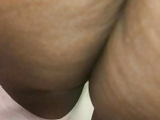 Ebony mature upskirt