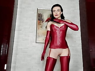 Red Leather & Latex Tease