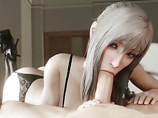 Aranea FFXV sucks and fucks in lingerie
