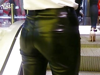 sexy girl in shiny pants 2