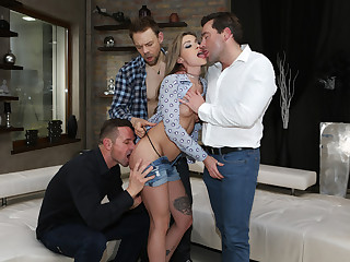 Double-Anal Gangbang With 2 Sisters!