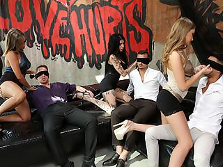 Porn School Orgy: Double Anal Training
