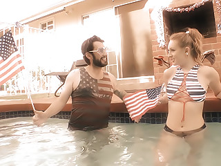 Blonde Daisy's Anal/A2M Pool Party!