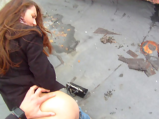 Fucking Glasses - Stacy Snake - Sex on the roof
